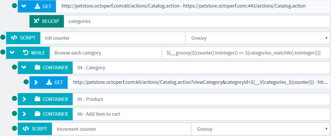 While Action - Documentation - OctoPerf